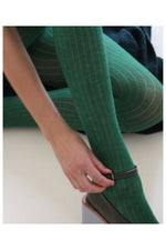 STAPLE TIGHTS IN GREEN