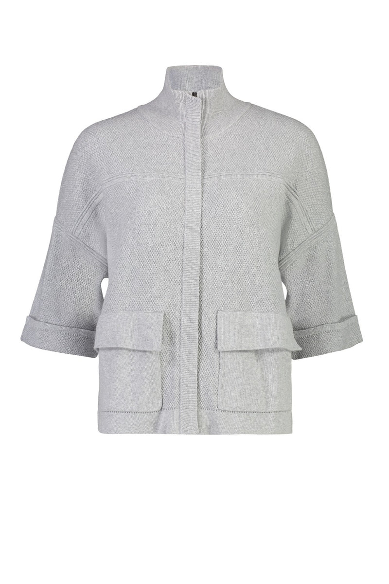 SURFACE TENSION ZIP JACKET IN SILVER MARLE