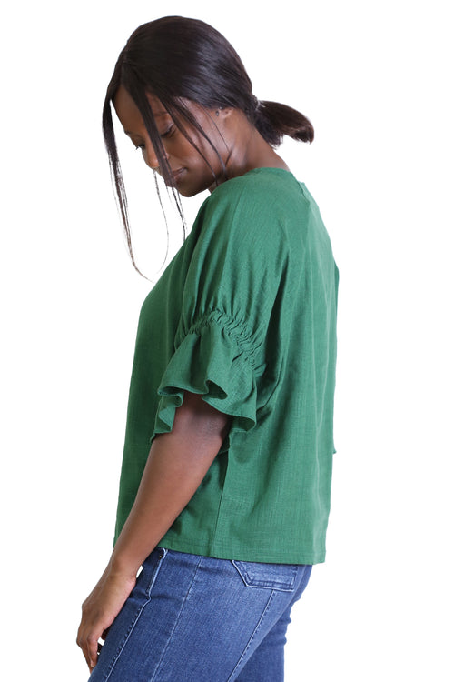SEKI BLOUSE IN OLD TRAM GREEN