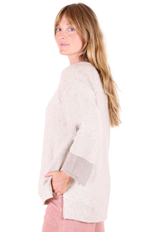 STARBURST SWEATER IN CREAM