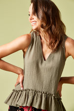 THE SAILS TANK IN KHAKI
