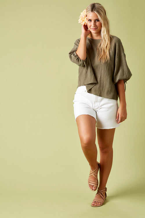 THE SAILS TOP IN KHAKI