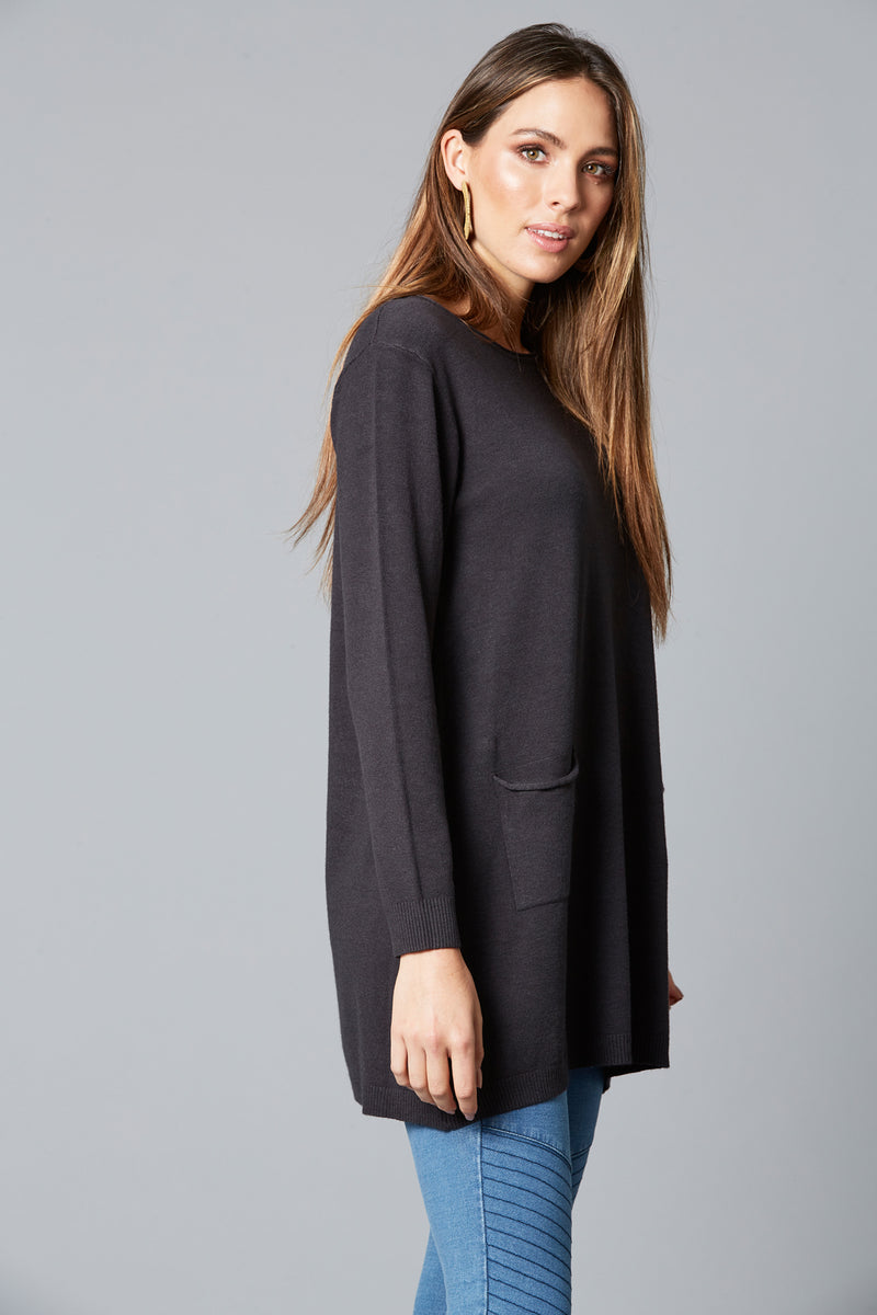 THRIVE DRESS KNIT IN BLACK