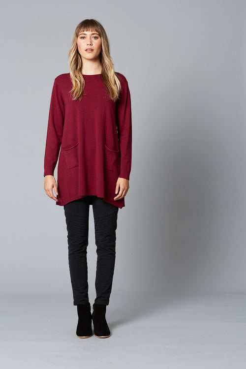 THRIVE DRESS KNIT IN PLUM