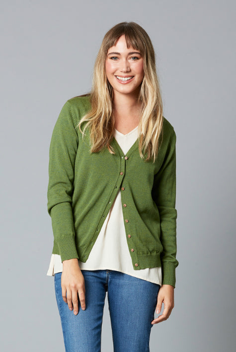 TRAVELLER CARDIGAN IN FOREST