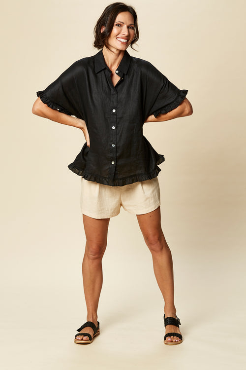 TRIBU SHIRT IN BLACK