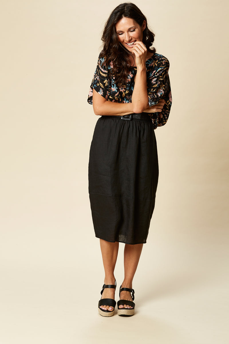 TRIBU SKIRT IN SABLE