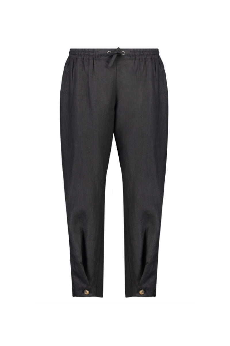 UNITED FRONT LINEN TROUSER IN PETROL