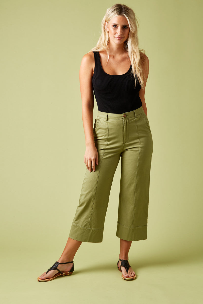 VAGABOND PANT IN MOSS
