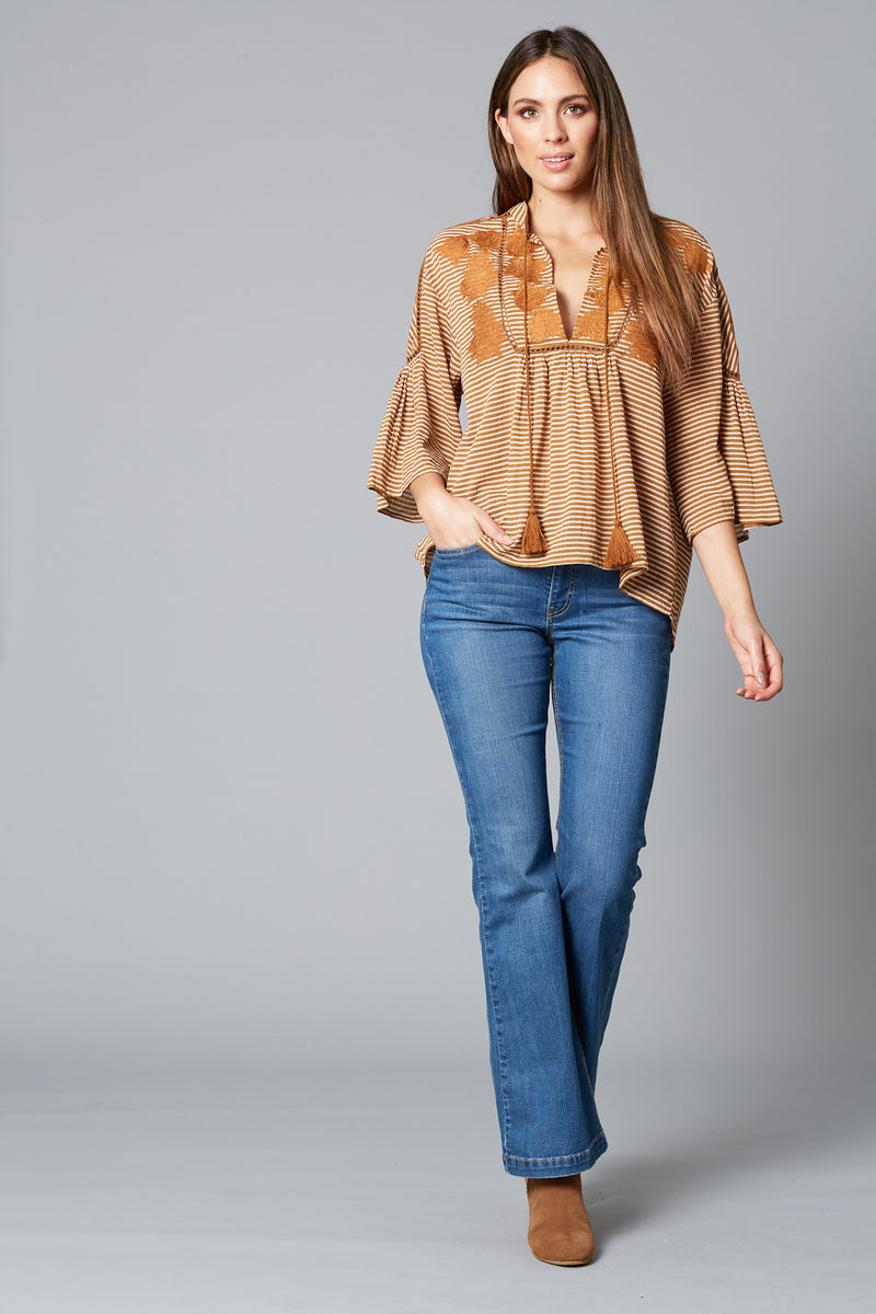 WANDERLUST TOP IN CARAMEL