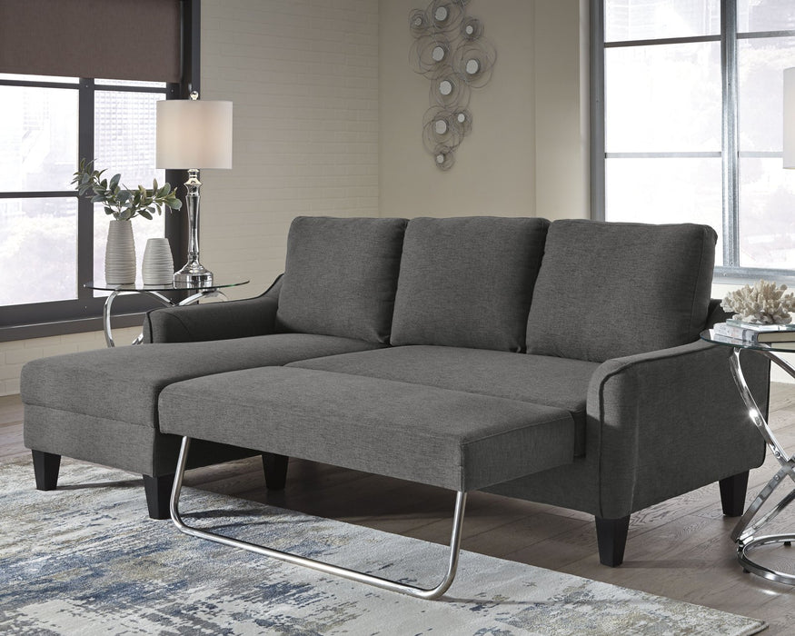 Jarreau Signature Design by Ashley Gray Sofa Chaise Sleeper