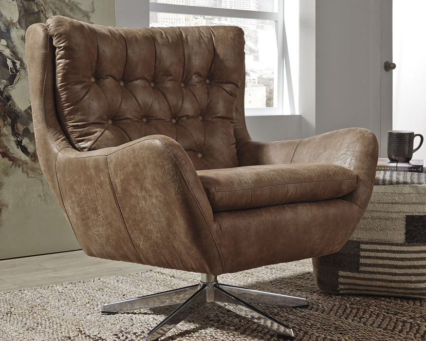 Velburg Signature Design by Ashley Brown Accent Chair