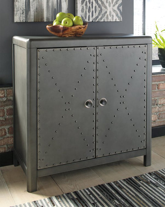 Rock Ridge Signature Design by Ashley Gunmetal Finish Accent Cabinet