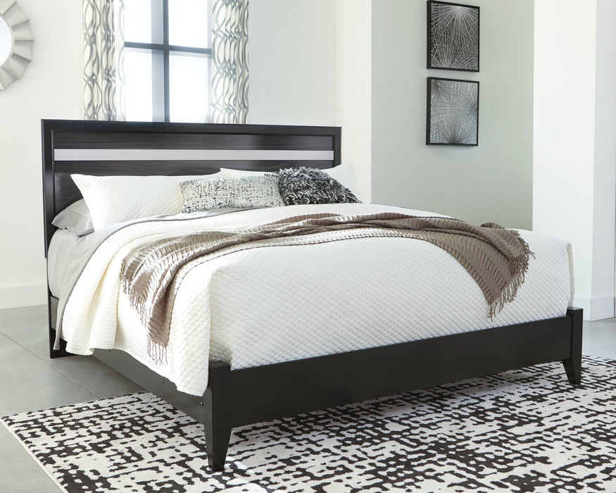 Starberry Signature Design by Ashley Black King Panel Bed