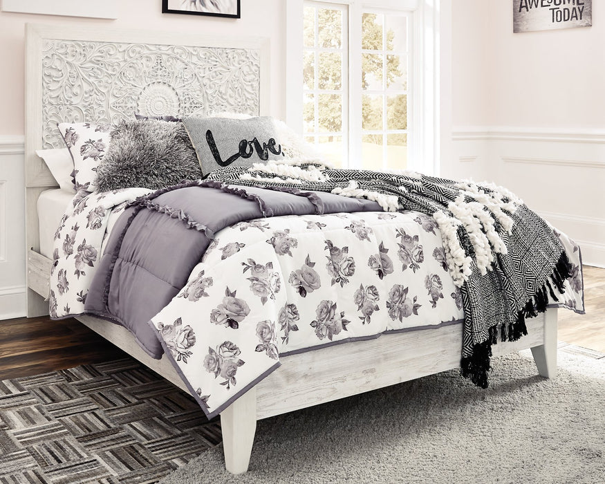 Paxberry Signature Design by Ashley Whitewash Full Panel Bed