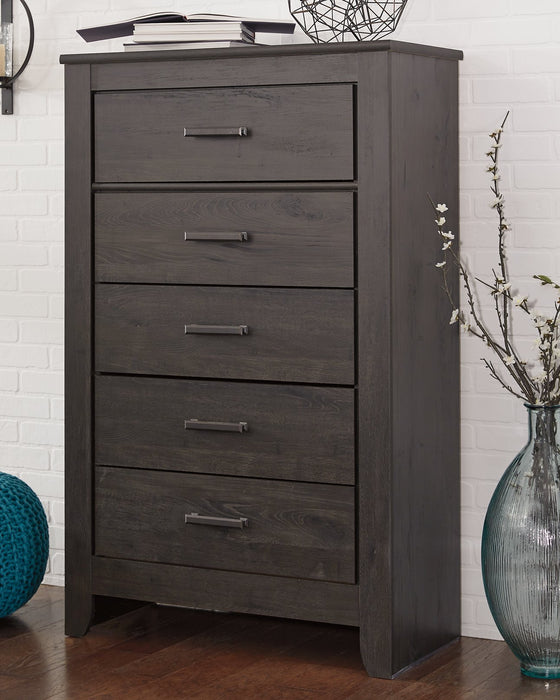 Brinxton Signature Design by Ashley Charcoal Chest of Drawers
