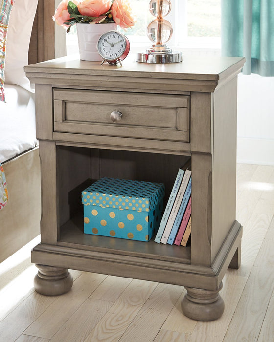 Lettner Signature Design by Ashley Light Gray Nightstand