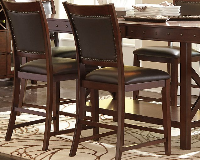 Collenburg Signature Design by Ashley Dark Brown Counter Height Bar Stool