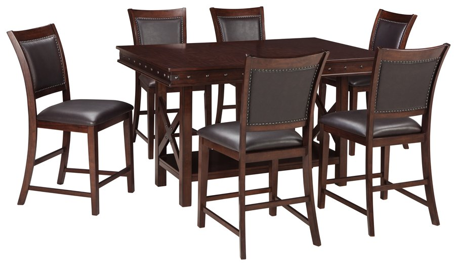 Collenburg Signature Design 7-Piece Counter Height Dining Room Package
