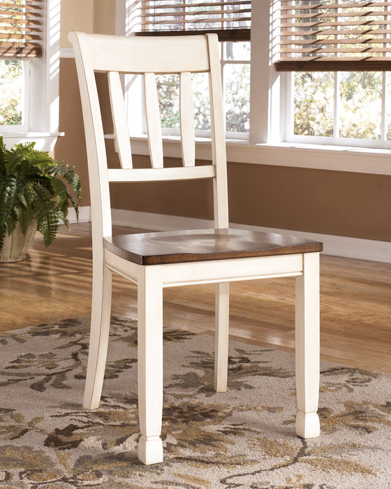 Whitesburg Signature Design by Ashley BrownCottage White Dining Chair