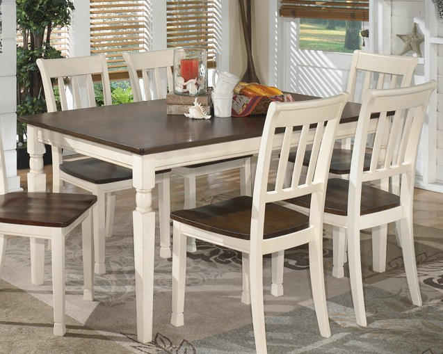 Whitesburg Signature Design by Ashley BrownCottage White Dining Table