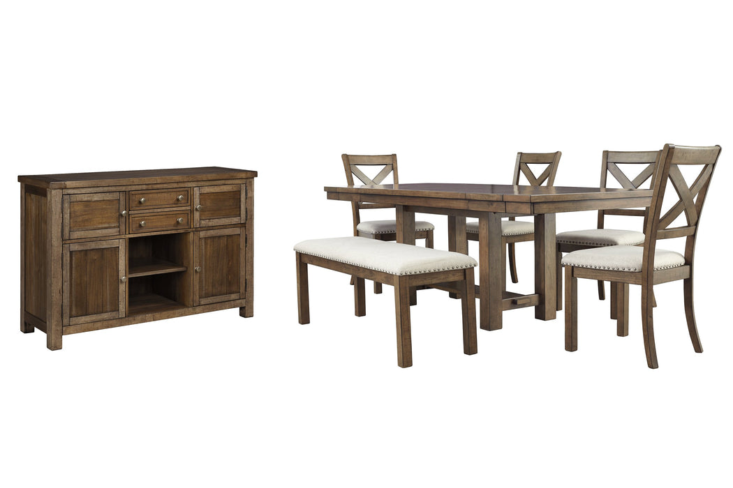 Moriville Signature Design 7-Piece Dining Room Package
