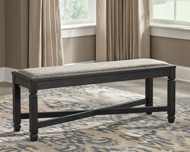 Tyler Creek Signature Design by Ashley BlackGrayish Brown Dining Bench