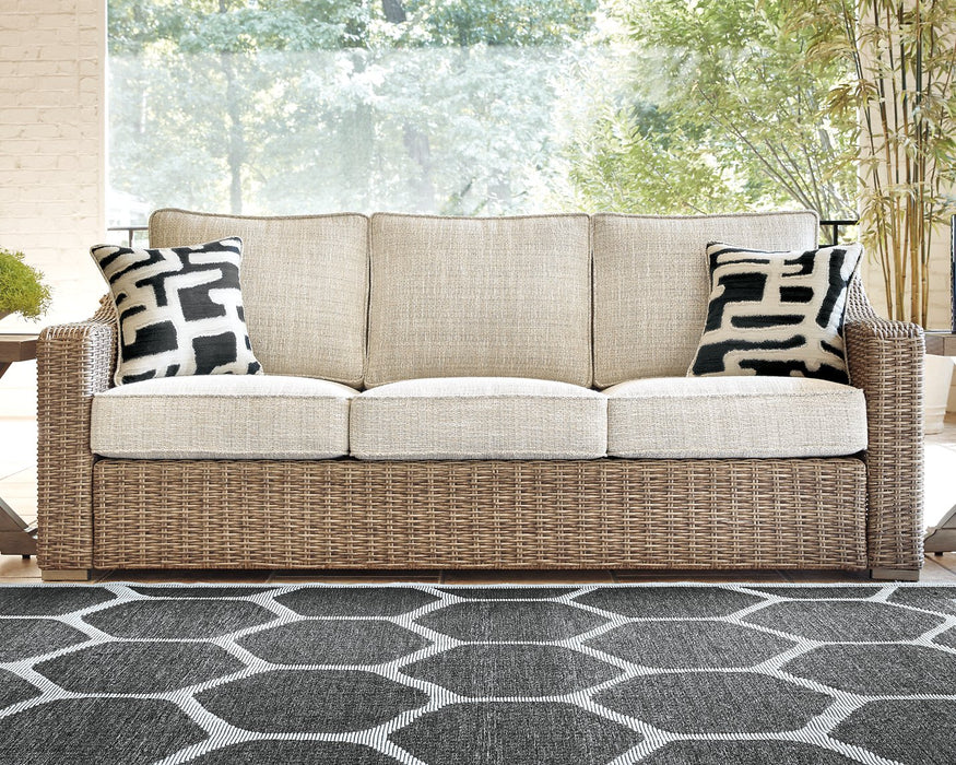 Beachcroft Signature Design by Ashley Beige Sofa with Cushion