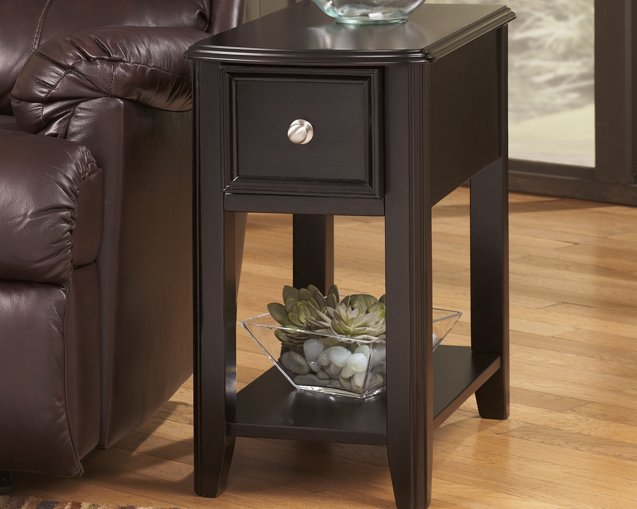 Breegin Signature Design by Ashley Almost Black Chairside End Table