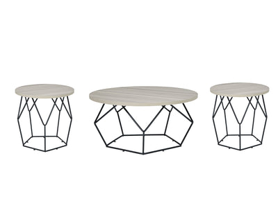 Waylowe Signature Design 3-Piece Occasional Table Set