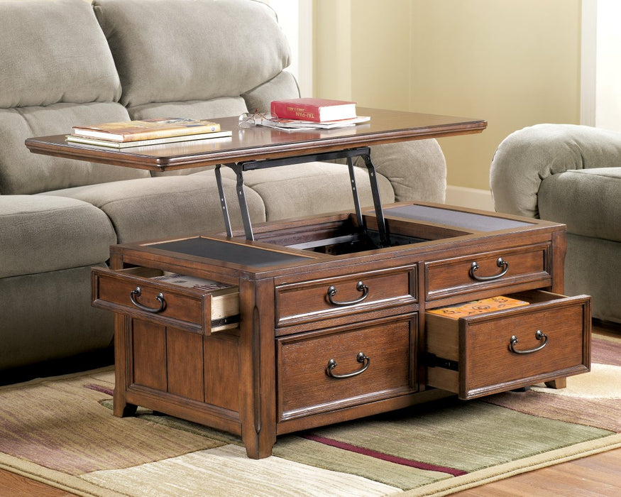 Woodboro Signature Design by Ashley Dark Brown Coffee Table with Lift Top