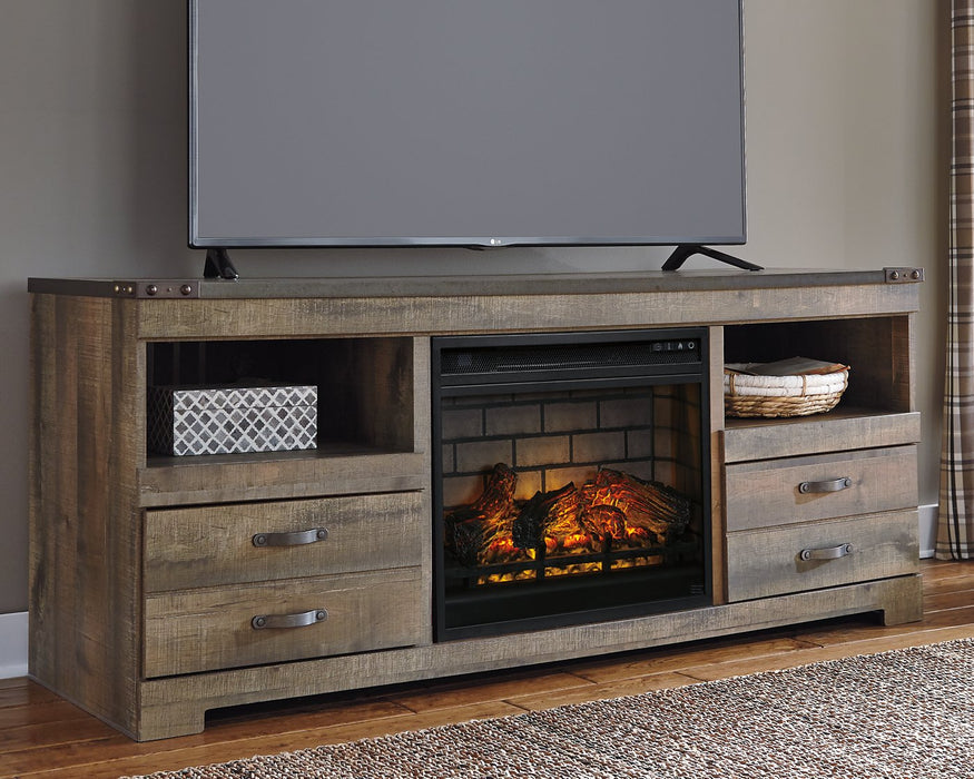 Trinell Signature Design by Ashley 63 TV Stand with Electric Fireplace