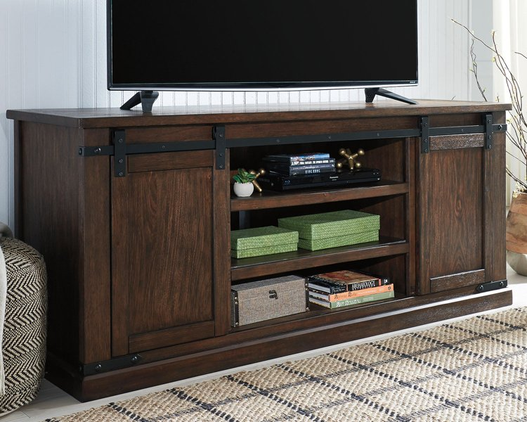 Budmore Signature Design by Ashley Rustic Brown 70 TV Stand