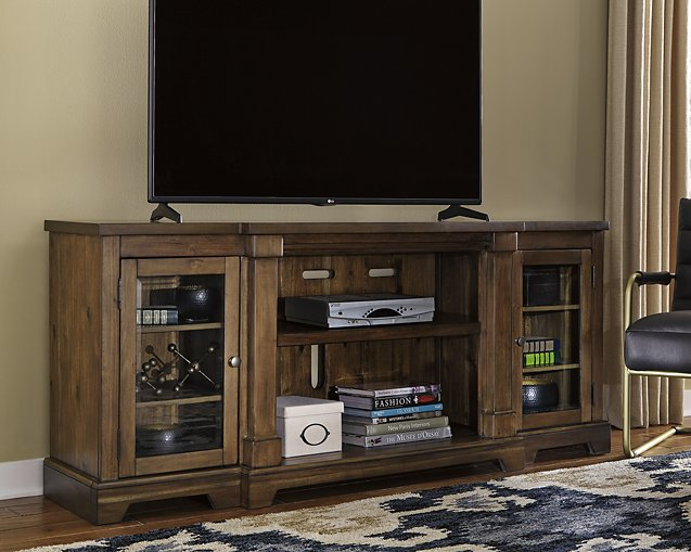 Flynnter Signature Design by Ashley Medium Brown 75 TV Stand