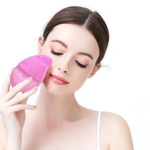 Glam Beauty - Electric Silicone Face Cleanser, Ultrasonic Waterproof Cleanser