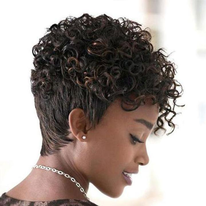 Best Design Women Short Curly Wig for African American | Human Hair