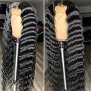 JUSTWIG® | Deep Wave Wig With Baby Hair Remy Wigs Elegants Hair