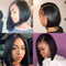 Short Cute Bob Straight Wigs | Human Hair | Black Wig