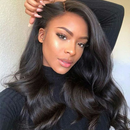 JUSTWIG®| Brazilian Sexy Wave Wig  |  Natural Lace Wig  |  360 Human Wig  | Black/Brown  Wig