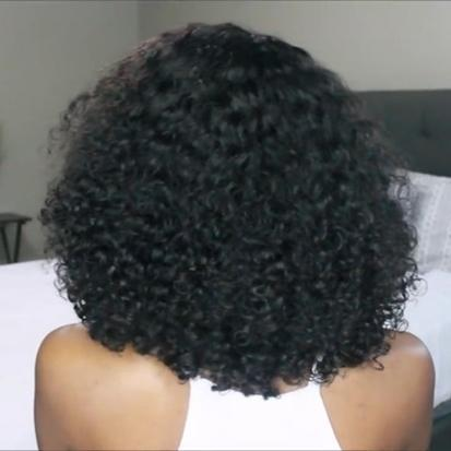 JUSTWIG®| Pre Pluked Lace Deep Short Curly Human Hair Wig