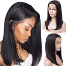 JUSTWIG®| Beauty Straight  Short Shoulder Wig  |  Natural Lace Wig  |  360 Human Wig  | Blonde /Black  Wig