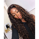 Hot Curly Wig  |  Natural Lace Wig  |  360 Human Wig  |  Black  Golden Brown Red Wig