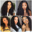 JUSTWIG®| Candy Curly Brazilian Remy 360 Lace Frontal Wig With Baby Hair