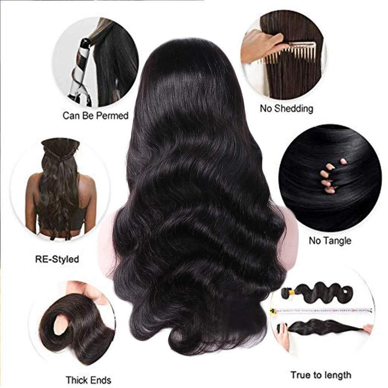 JUSTWIG® | 360 Body Wave Lace Frontal Wigs Virgin Human Hair