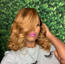 Sexy Wavy Wig  |  Natural Lace Wig  | 360 Human Wig  |  Golden Wig