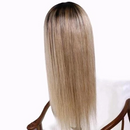 Beauty Straight Wig  |  Natural Lace Wig  |  360 Human Wig  |  Blonde/Brown Wig