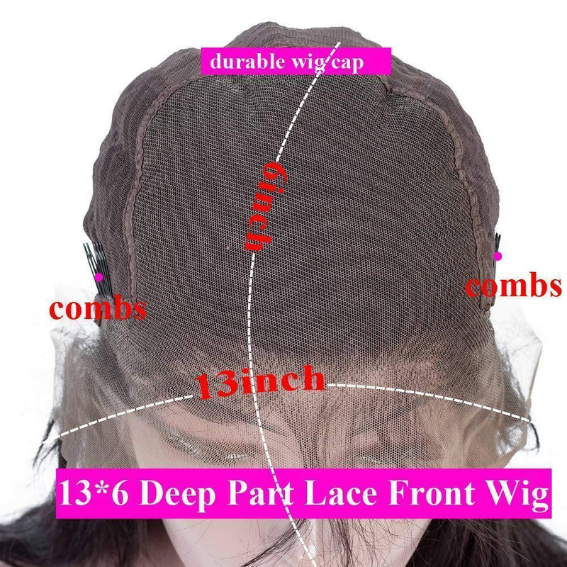 JUSTWIG®|Human 13x6 Lace Wave Wig Can Be Dyed With Ponytail