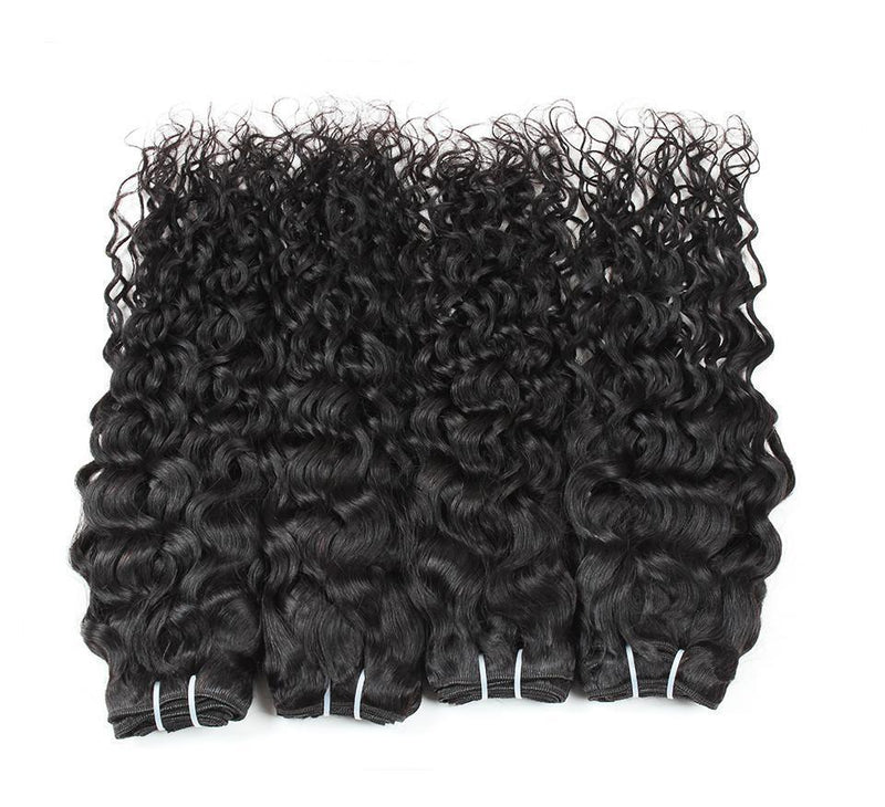 Brazilian Curly Black Bundles With Closure 100g/Pcs | Remy Human Hair