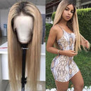 JUSTWIG®360 Lace Front Human Wig Brown And Blond Highlight Wigs