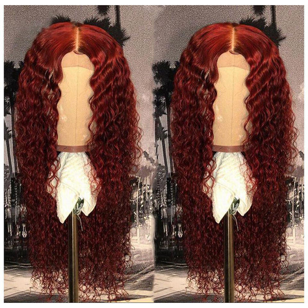 Preferred Red Curly 360 Lace Wigs Front For Black Women | Human Wig | Red Wig